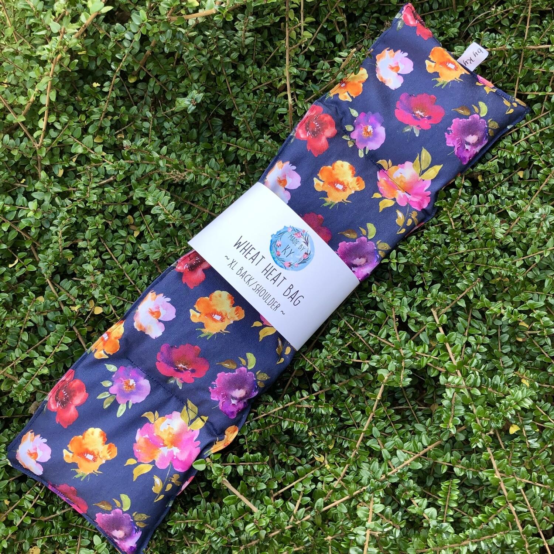 Watercolour Blooms - Wheat Heat Bag - XL Size
