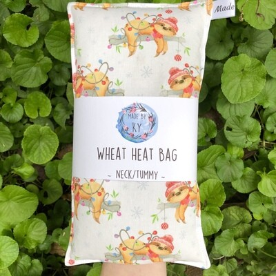 Christmas Sloths - Wheat Heat Bag - Regular Size
