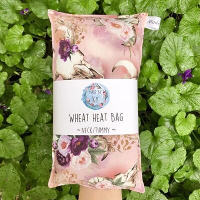 Floral Longhorn - Wheat Heat Bag - Regular Size