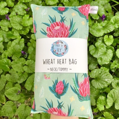 Minty Proteas - Wheat Heat Bag - Regular Size