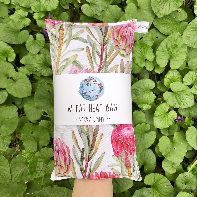 Beautiful Proteas - Wheat Heat Bag - Regular Size