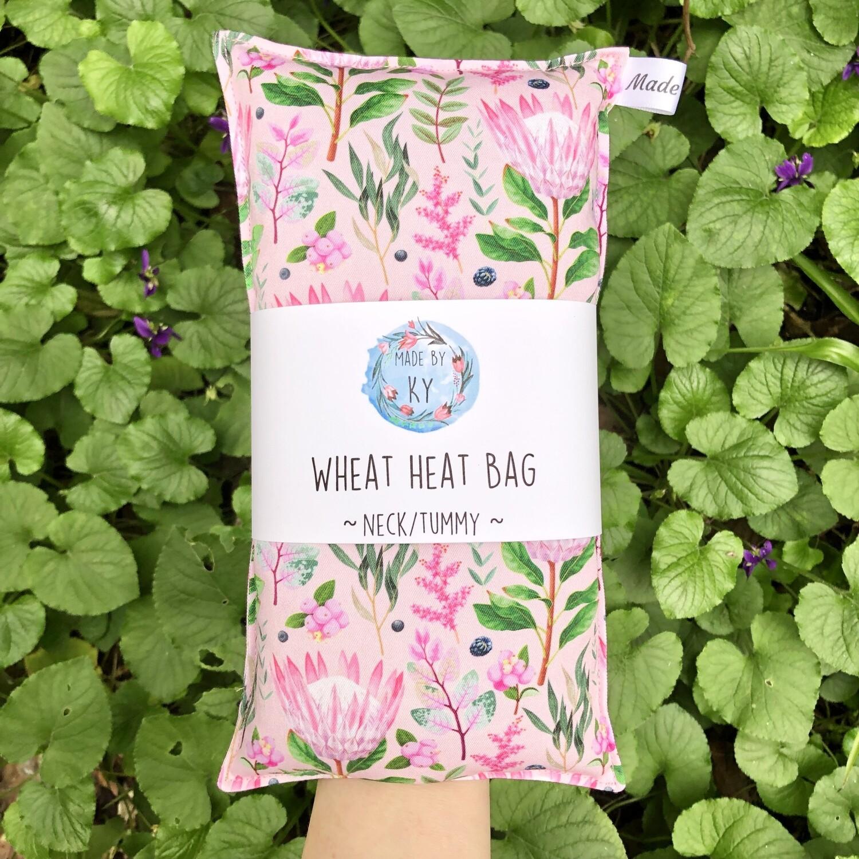 Pink Proteas - Wheat Heat Bag - Regular Size