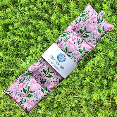 Pink Proteas - Wheat Heat Bag - XL Size