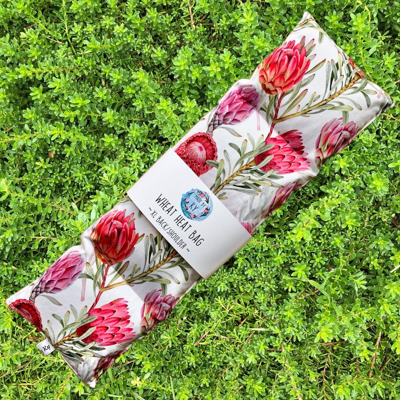 Beautiful Proteas - Wheat Heat Bag - XL Size