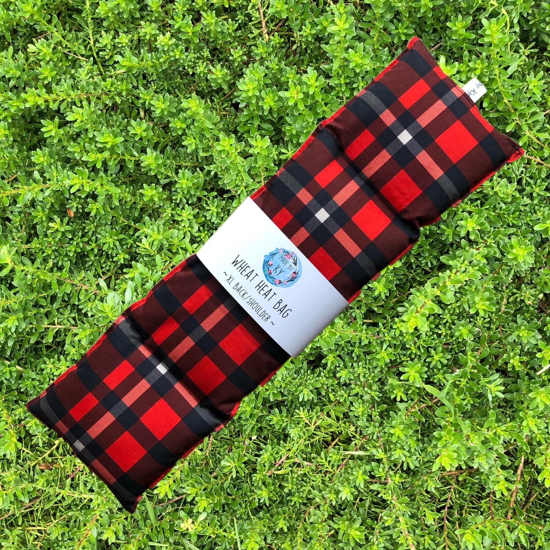 Red Tartan - Wheat Heat Bag - XL Size