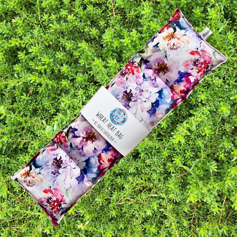 Gorgeous Watercolour Blooms - Wheat Heat Bag - XL Size