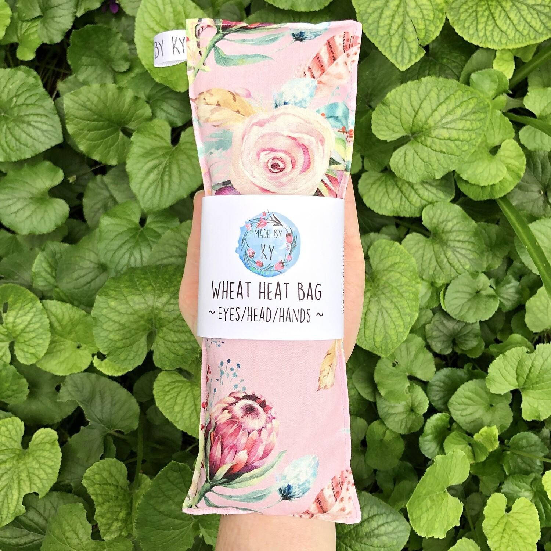 Pink Protea Boquet - Wheat Heat Bag - Mini Size