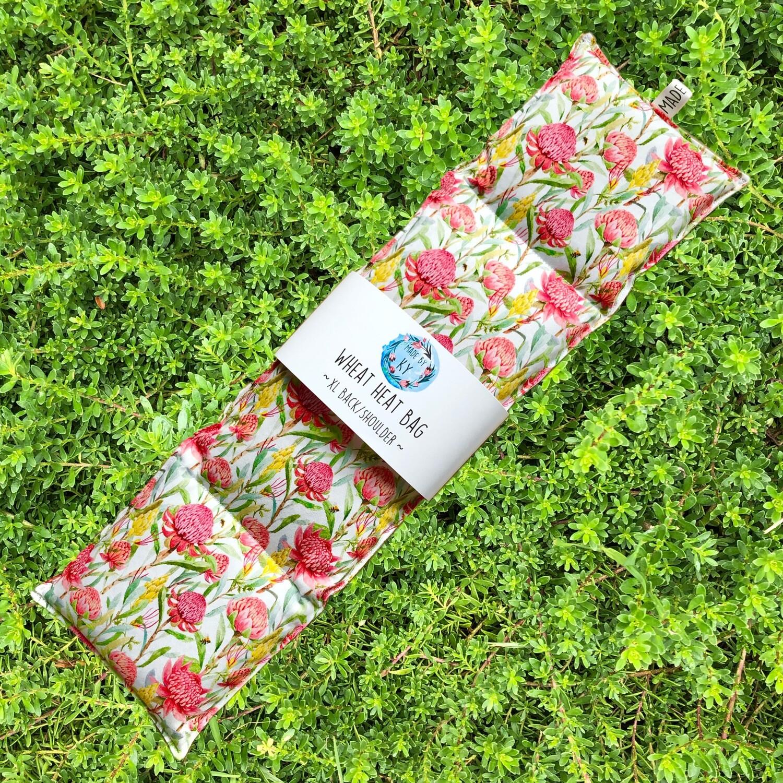 Waratah Garden - Wheat Heat Bag - XL Size