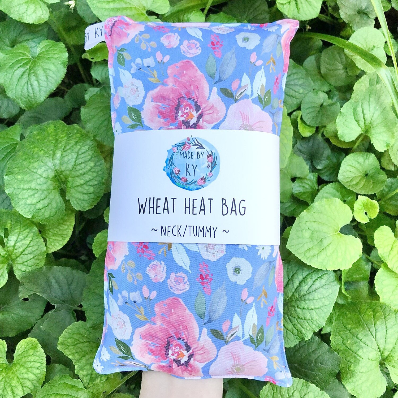 Pastel Watercolour Blooms - Wheat Heat Bag - Regular Size