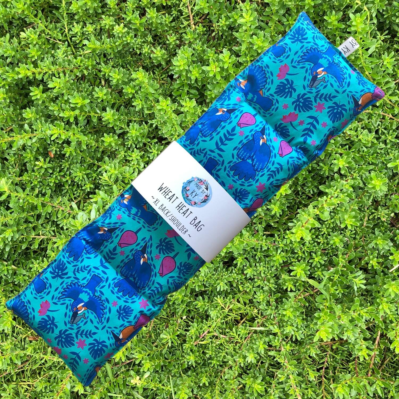 Playful Kingfishers - Wheat Heat Bag - XL Size