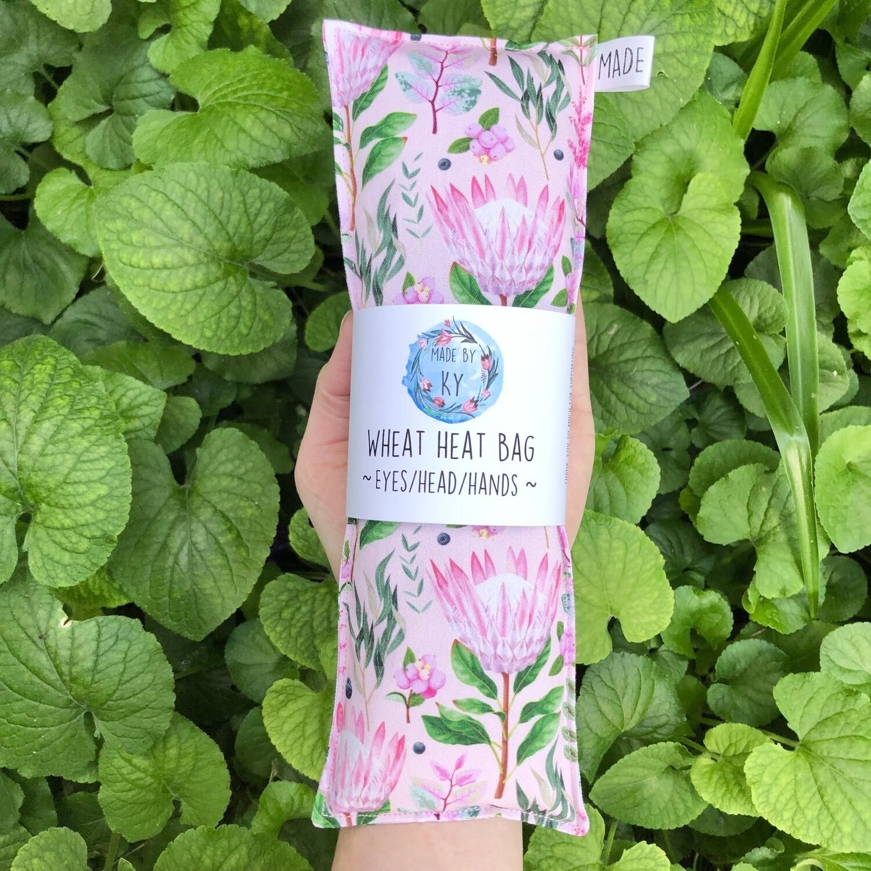 Pink Proteas - Wheat Heat Bag - Mini Size
