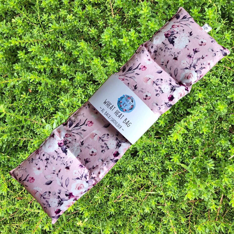 Pretty Pink Roses - Wheat Heat Bag - XL Size