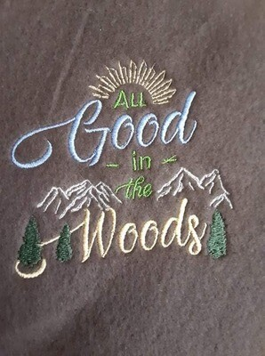 The Woods and Campfire Embroideries - click to see more