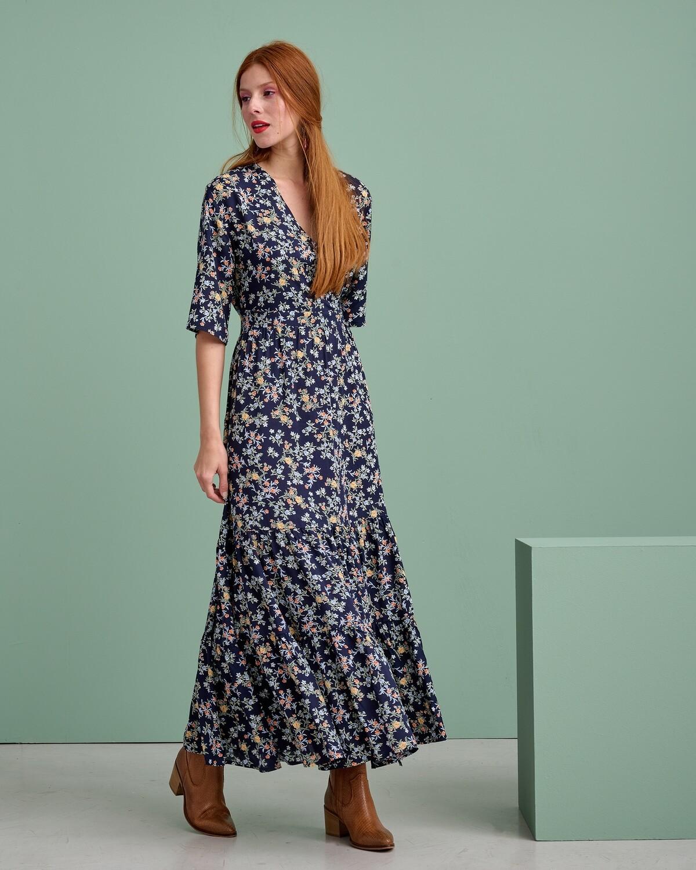 Κρουαζέ Floral Maxi Φόρεμα