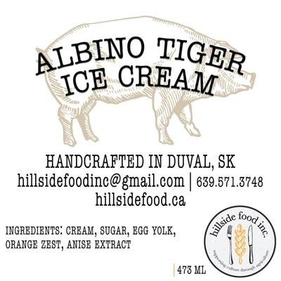 Albino Tiger Ice Cream