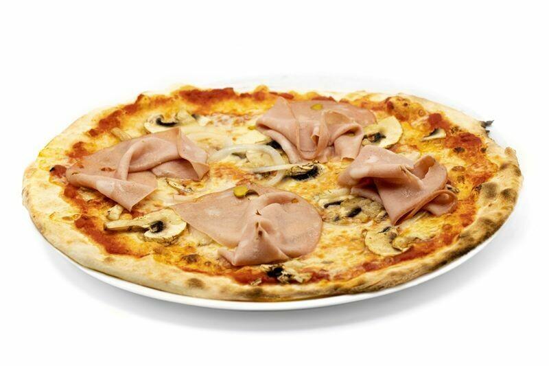 Pizza Mortadella e Funghi