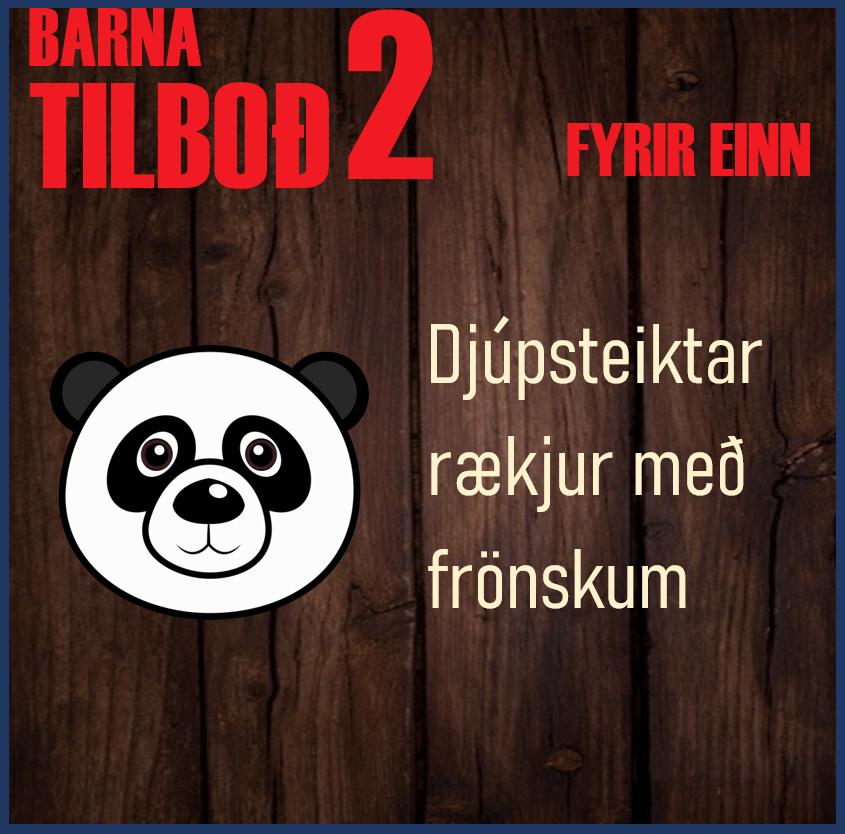 BARNA TILBOÐ 2 fyrir 1