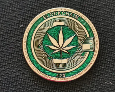 Block chain 420 COIN Numbered