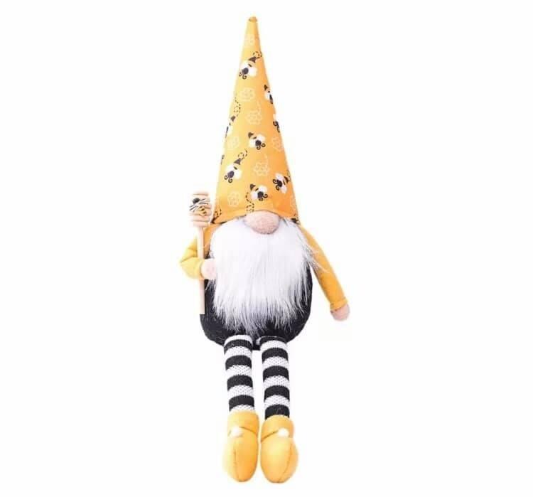 Bee Shelf Sitter Gnome