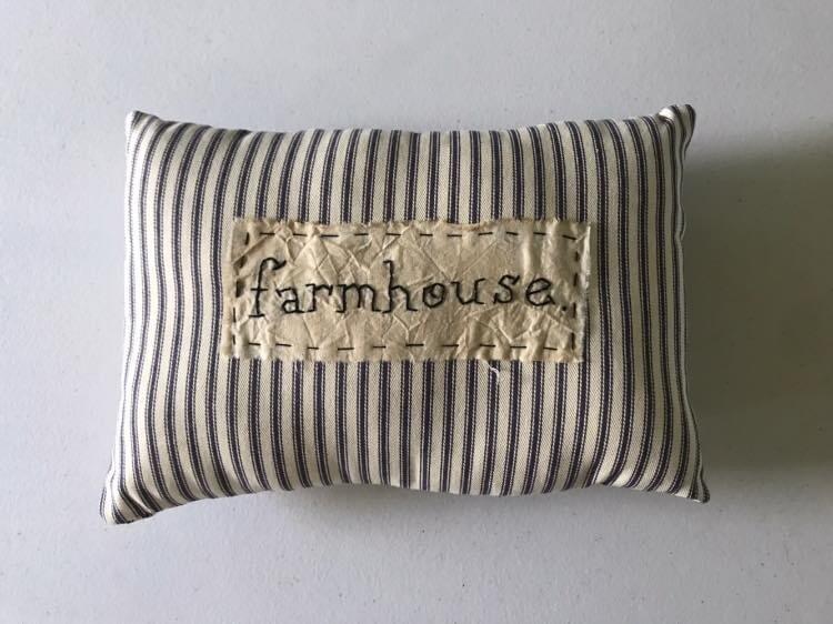 Farmhouse Stitched Pillow