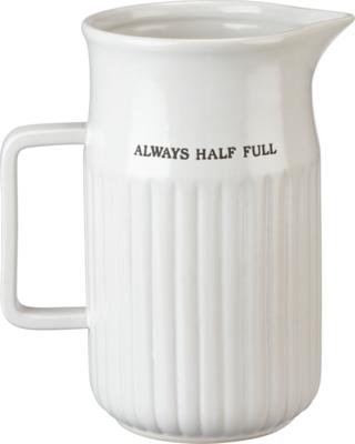 Always Half Full Stoneware Pitcher