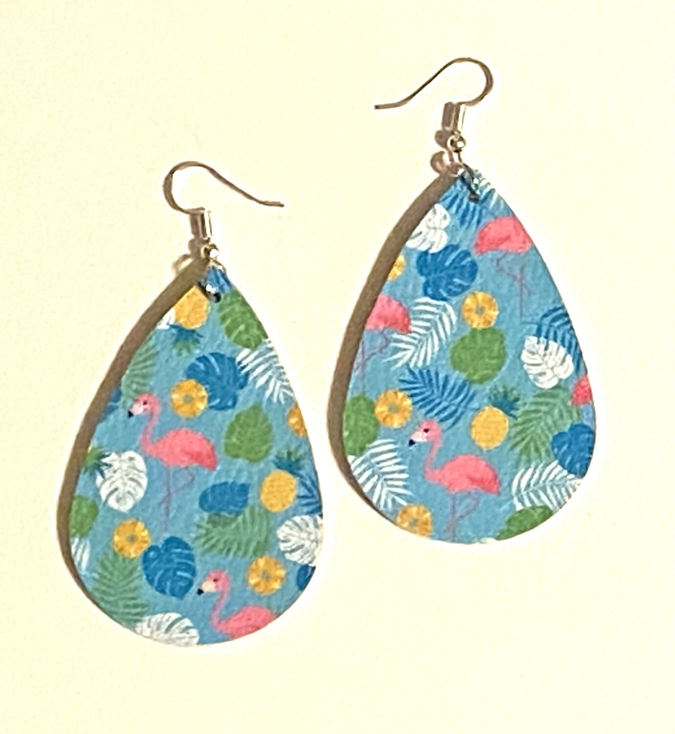 Tropical Leather Earrings