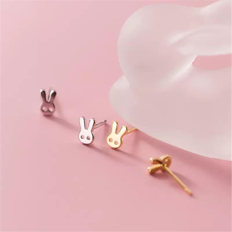 Golden Bunny Stud Earrings