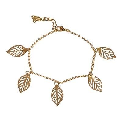 Golden Leaves Anklet