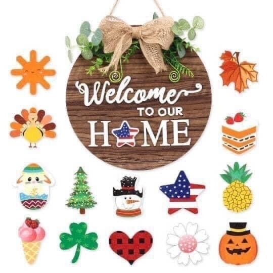 Welcome To Our Home Seasonal Sign