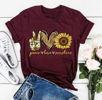 Peace Love & Sunshine Tee