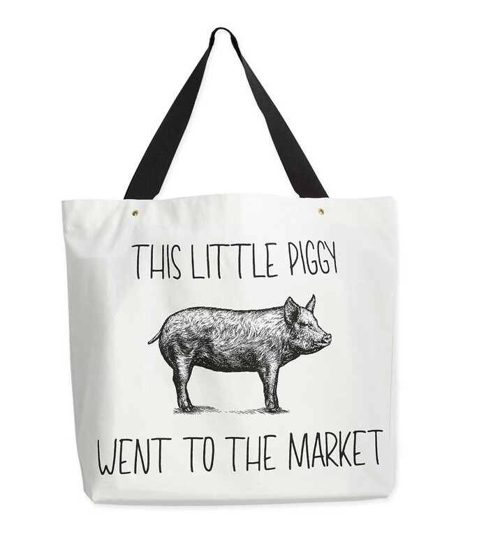 Piggy Went To Market Tote