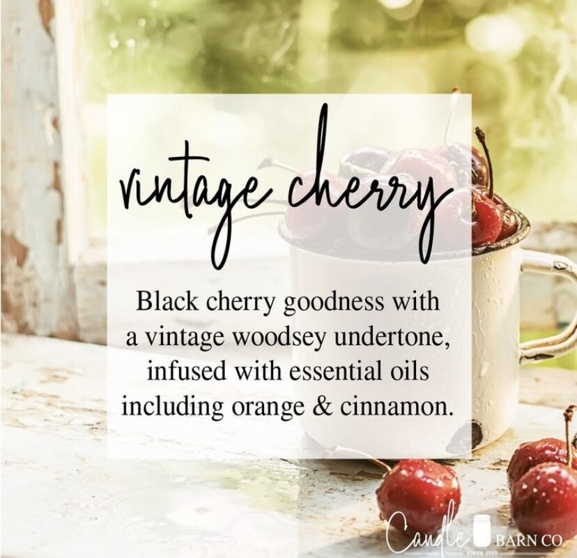 Vintage Cherry Soy Candles & Melts