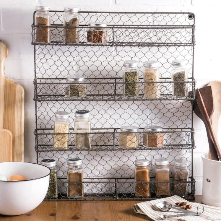 Chicken Wire Spice Rack - 4 tier