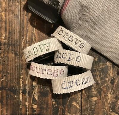 Recycled Fire Hose Bracelet