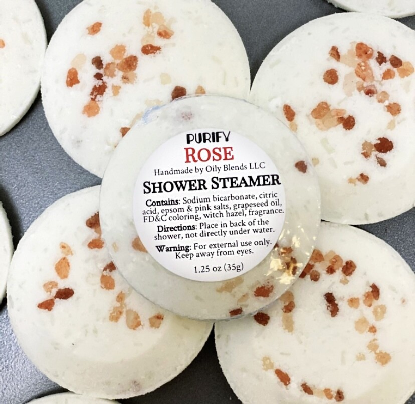Shower Steamers with Pink Himalayan Salt