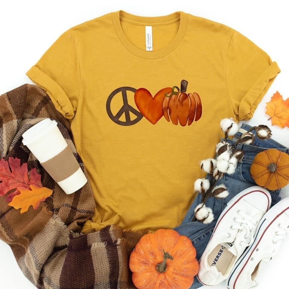 Peace, Love & Pumpkins Tee