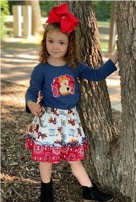 Girls Turkey 2-Piece Outfit