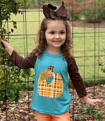 Girls Pumpkin Shirt