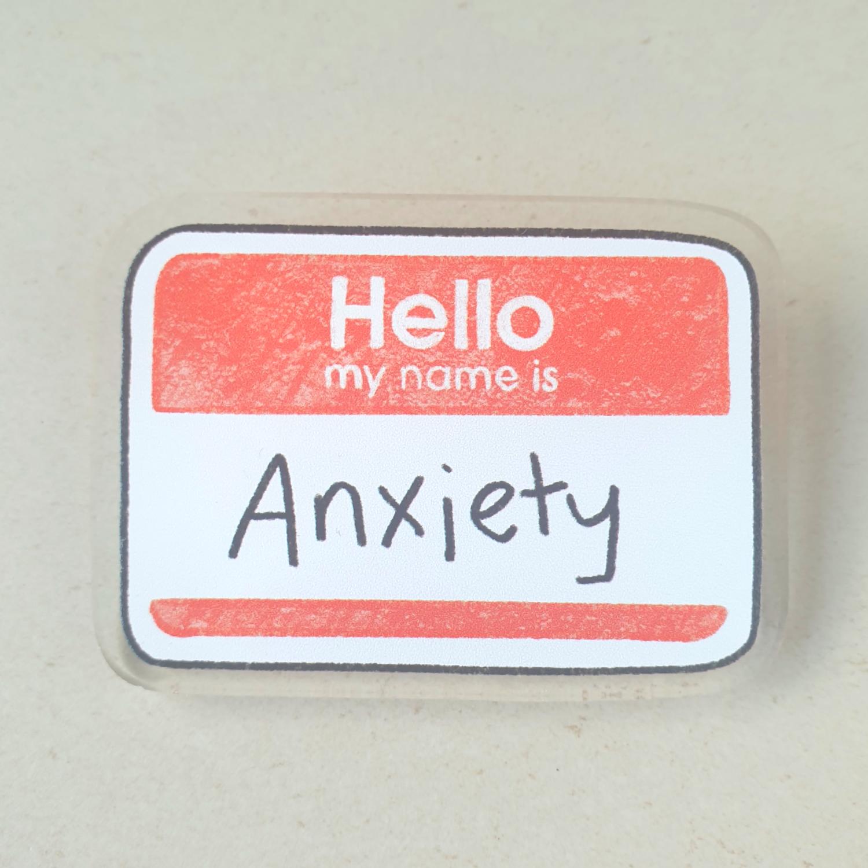 Anxiety Acrylic Brooch Charm