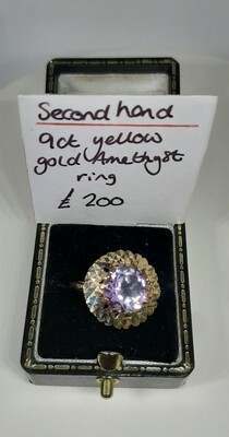 1970s 9ct Amethyst Ring