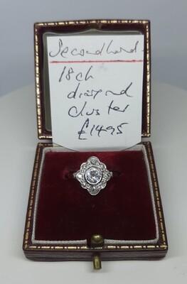 18ct Antique Diamond Cluster