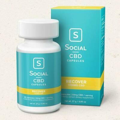 Social Recover 33mg Gel Capsules