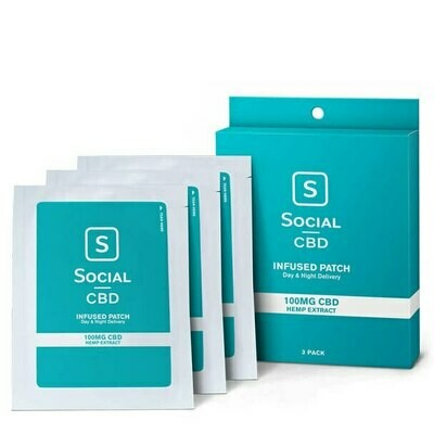 Social CBD Infused Patch 100mg  (3 count)