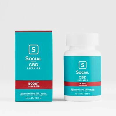 Social Boost 33mg Gel Capsules
