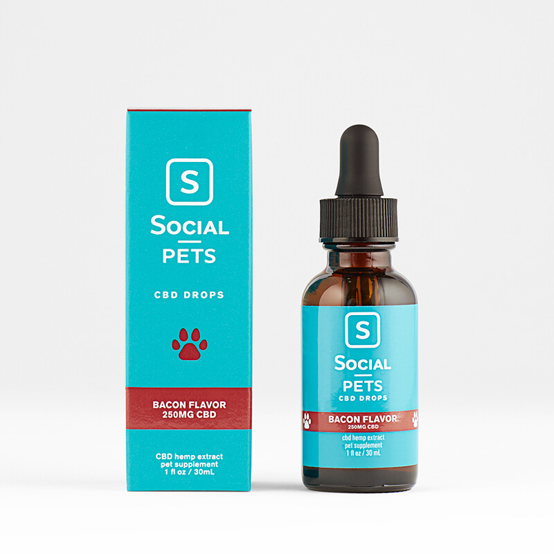 Social Pets Broad Spectrum CBD Drops 250 mg