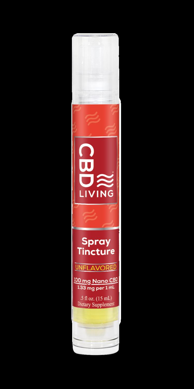 Travel Spray CBD Living Tincture 100 mg 15ml
