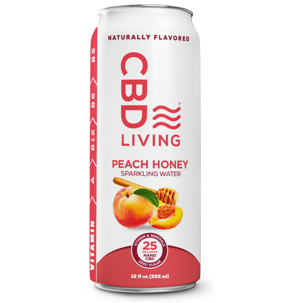 CBD Living Flavored Sparkling Water 25 mg CBD