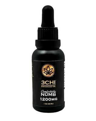 3 CHI Comfortably Numb Delta 8 THC/CBN 1200mg Tincture