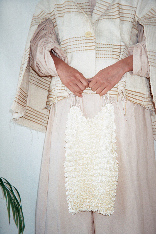 Off-White Small textil bag. Tonal linning