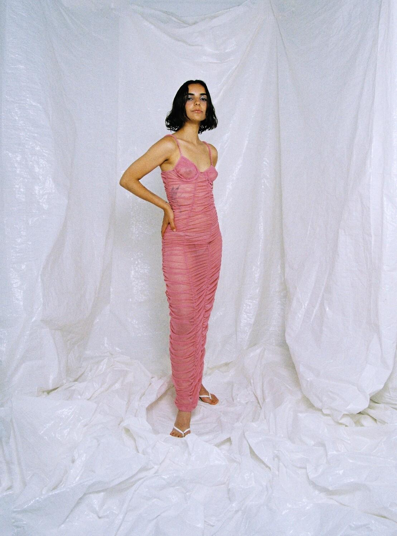 PATRY DRESS PASTEL PINK